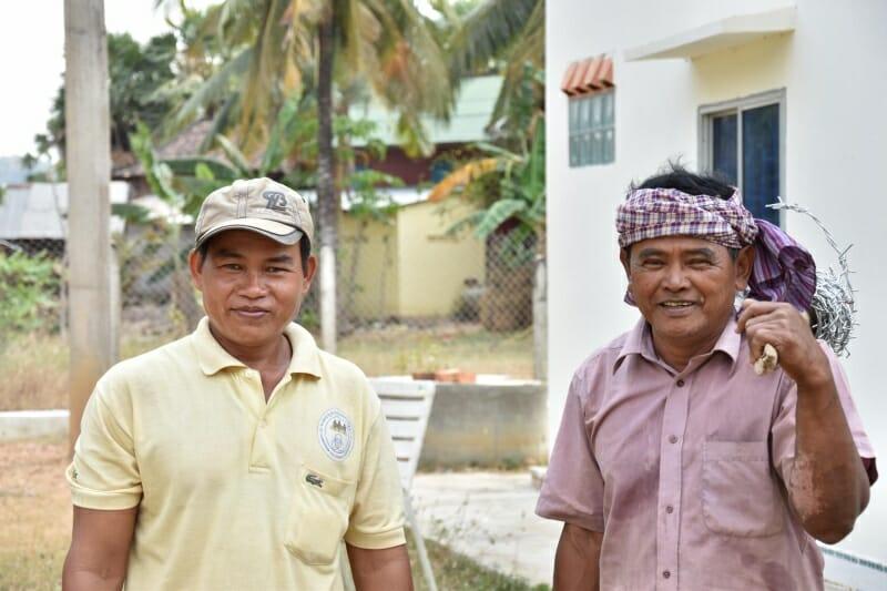 Die Arbeiter im Kinderdorf