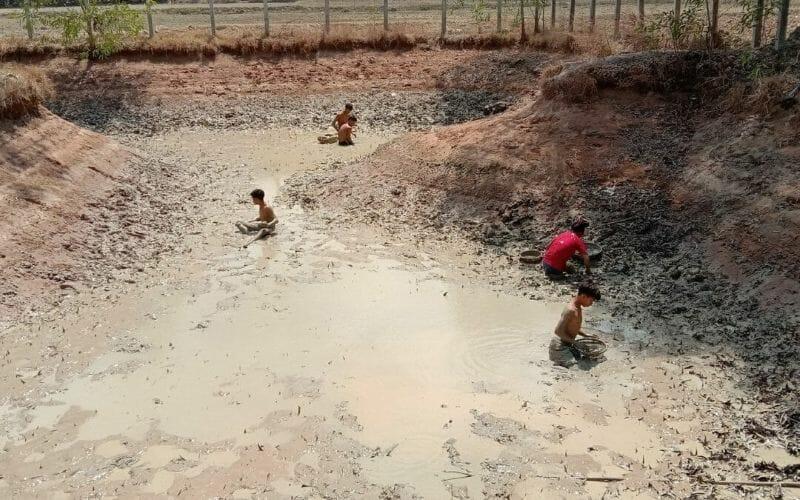 Trockenzeit in Kambodscha