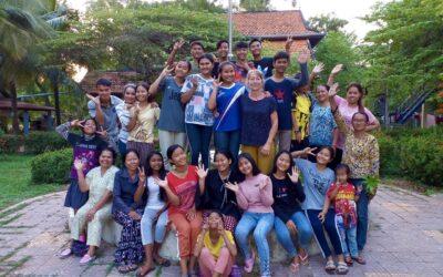 Was war denn da los? Ursula bei uns in Kambodscha